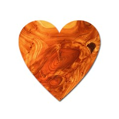 Fantastic Wood Grain Heart Magnet