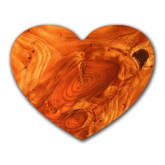 Fantastic Wood Grain Heart Mousepads