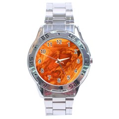 Fantastic Wood Grain Stainless Steel Analogue Watch