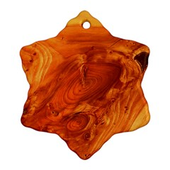 Fantastic Wood Grain Snowflake Ornament (Two Sides)