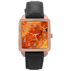 Fantastic Wood Grain Rose Gold Leather Watch