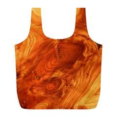 Fantastic Wood Grain Full Print Recycle Bags (L)