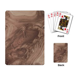 Fantastic Wood Grain Soft Playing Card