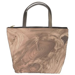 Fantastic Wood Grain Soft Bucket Bags
