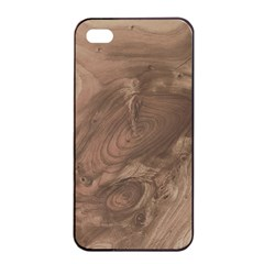 Fantastic Wood Grain Soft Apple iPhone 4/4s Seamless Case (Black)