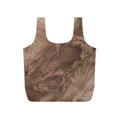 Fantastic Wood Grain Soft Full Print Recycle Bags (S)