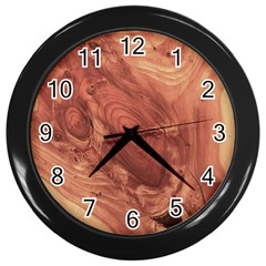 Fantastic Wood Grain,brown Wall Clocks (Black)