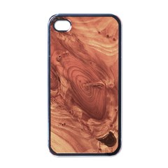Fantastic Wood Grain,brown Apple iPhone 4 Case (Black)