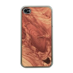 Fantastic Wood Grain,brown Apple iPhone 4 Case (Clear)