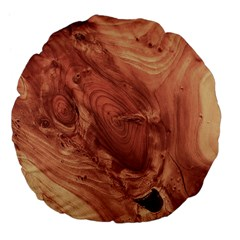 Fantastic Wood Grain,brown Large 18  Premium Flano Round Cushions