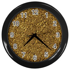 Sparkling Metal Art A Wall Clocks (Black)