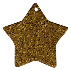Sparkling Metal Art A Star Ornament (Two Sides)