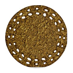 Sparkling Metal Art A Round Filigree Ornament (Two Sides)