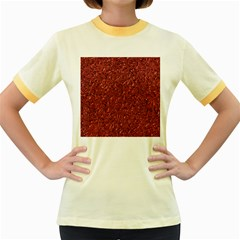 Sparkling Metal Art B Women s Fitted Ringer T-Shirts