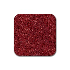 Sparkling Metal Art B Rubber Square Coaster (4 pack)