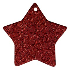 Sparkling Metal Art B Star Ornament (Two Sides)
