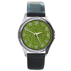 Sparkling Metal Art C Round Metal Watch