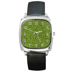 Sparkling Metal Art C Square Metal Watch