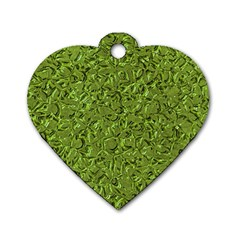 Sparkling Metal Art C Dog Tag Heart (Two Sides)