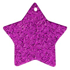 Sparkling Metal Art D Star Ornament (Two Sides)