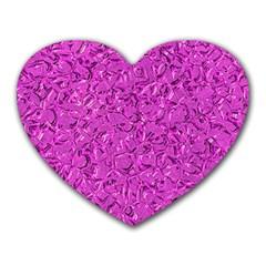 Sparkling Metal Art D Heart Mousepads