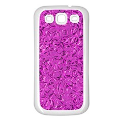Sparkling Metal Art D Samsung Galaxy S3 Back Case (White)