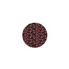 Roses pattern 1  Mini Buttons