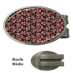 Roses pattern Money Clips (Oval)
