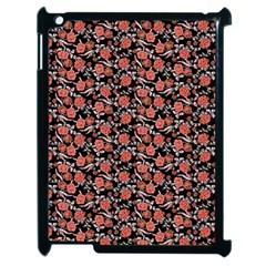 Roses pattern Apple iPad 2 Case (Black)