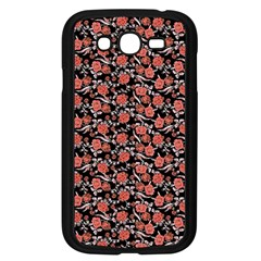 Roses pattern Samsung Galaxy Grand DUOS I9082 Case (Black)