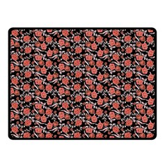 Roses pattern Double Sided Fleece Blanket (Small)