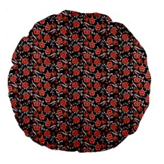 Roses pattern Large 18  Premium Flano Round Cushions
