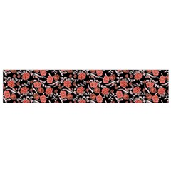 Roses pattern Flano Scarf (Small)