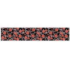 Roses pattern Flano Scarf (Large)