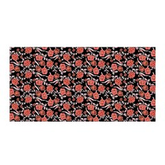 Roses pattern Satin Wrap