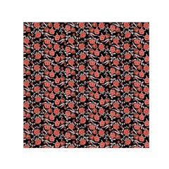 Roses pattern Small Satin Scarf (Square)