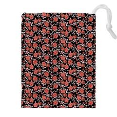 Roses pattern Drawstring Pouches (XXL)