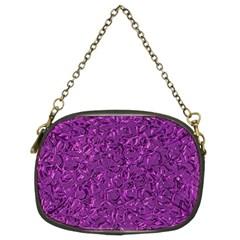 Sparkling Metal Art F Chain Purses (Two Sides)