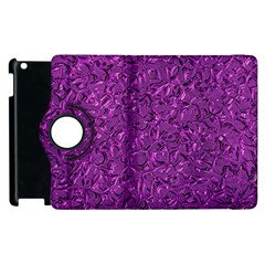 Sparkling Metal Art F Apple iPad 2 Flip 360 Case