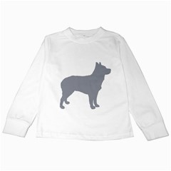 Australian Stumpy Tail Cattle Dog Silo Blue Kids Long Sleeve T-Shirts