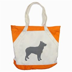Australian Stumpy Tail Cattle Dog Silo Blue Accent Tote Bag