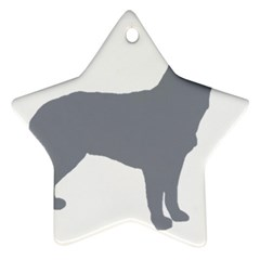 Australian Stumpy Tail Cattle Dog Silo Blue Star Ornament (Two Sides)