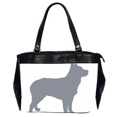 Australian Stumpy Tail Cattle Dog Silo Blue Office Handbags (2 Sides)