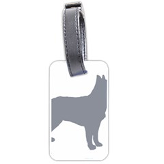 Australian Stumpy Tail Cattle Dog Silo Blue Luggage Tags (Two Sides)