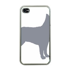 Australian Stumpy Tail Cattle Dog Silo Blue Apple iPhone 4 Case (Clear)
