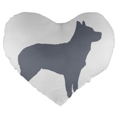 Australian Stumpy Tail Cattle Dog Silo Blue Large 19  Premium Heart Shape Cushions