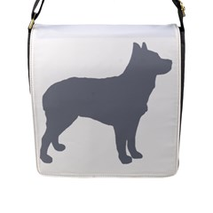 Australian Stumpy Tail Cattle Dog Silo Blue Flap Messenger Bag (L)
