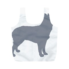 Australian Stumpy Tail Cattle Dog Silo Blue Full Print Recycle Bags (M)