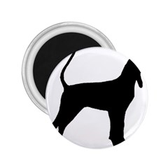 Black And Tan Coonhound Silo Black 2.25  Magnets