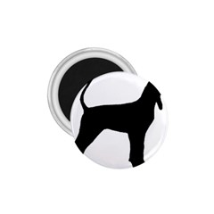 Black And Tan Coonhound Silo Black 1.75  Magnets